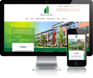 web design for Hillcrest Management