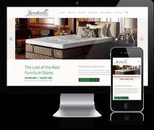 web design for Jarrettsville Furniture