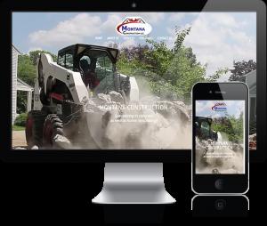 web design for Montana Construction