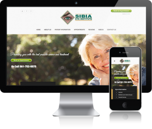 web design for Sibia Eye Institute