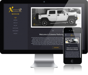 web design for EP Wheels
