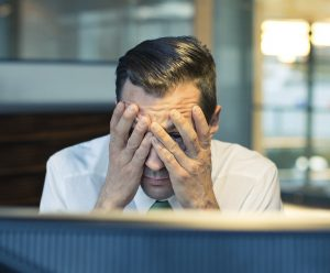 website seo frustrated man