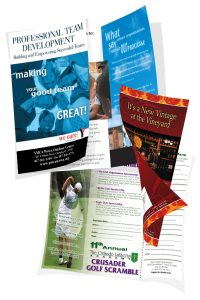 Brochures & Post Card examples