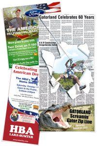 Newsprint Ad Design examples